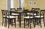 Cappuccino Finish Counter Height 9 Piece Dining Set with Butterfly Leaf by Coaster - 5846