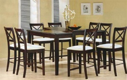 finish counter height 9 piece dining set with butterfly leaf