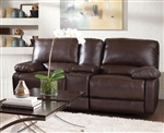 Geri Cognac Leather Gliding Loveseat by Coaster - 600021L
