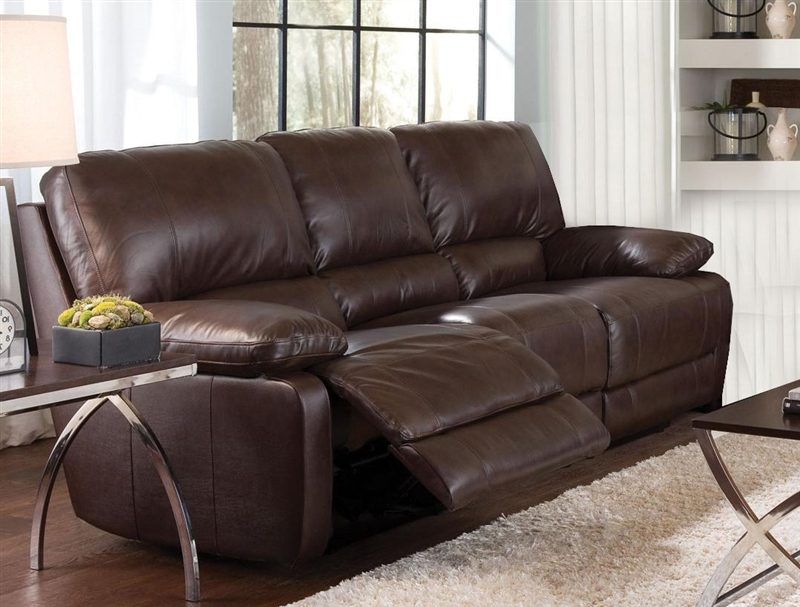 Geri Cognac Leather Motion Sofa By Coaster 600021s