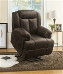 Power Lift Recliner in Chocolate Velvet by Coaster - 600173