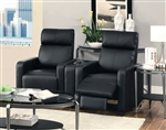 Reeva 3 Piece Black Theater Seating by Coaster - 600181-3