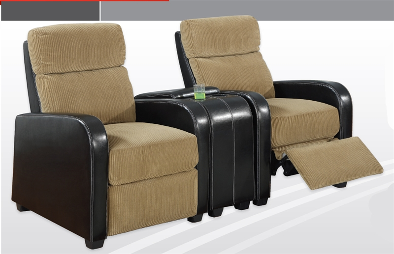 Pallas space saving tan dark brown theater seating by for Space saving seating