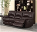 Clifford Double Reclining Sofa in Brown Leather by Coaster - 600281