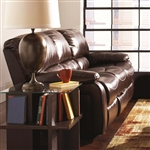 Alan Dark Brown Leather Motion Sofa by Coaster - 600352S