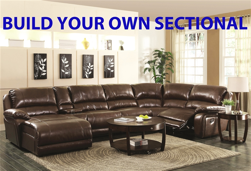 Mackenzie Chestnut Leather Build Your Own Sectional By