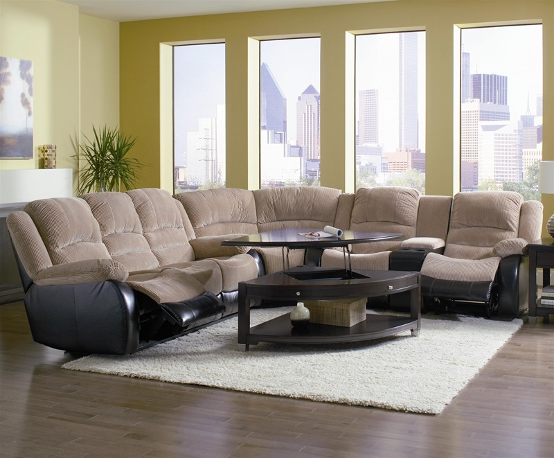 & Johanna Tan Corduroy 3 Piece Reclining Sectional by Coaster - 600362 islam-shia.org