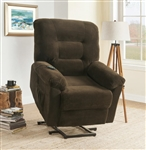 Power Lift Recliner in Chocolate Chenille Upholstery by Coaster - 600397