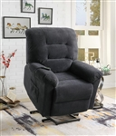 Power Lift Recliner in Charcoal Chenille Upholstery by Coaster - 600398