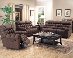 Sullivan 2 Piece Motion Sofa Set in Chocolate Microfiber by Coaster - 600401S
