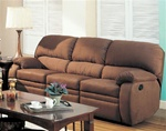 Michelle Motion Sofa in Chocolate Microfiber by Coaster - 600411