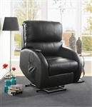 Power Lift Recliner in Black Leather by Coaster - 600416