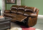 Morrell Dual Reclining Sofa in Plush Bonded Leather by Coaster - 600471