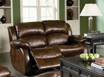 Morrell Dual Reclining Loveseat in Plush Bonded Leather by Coaster - 600472