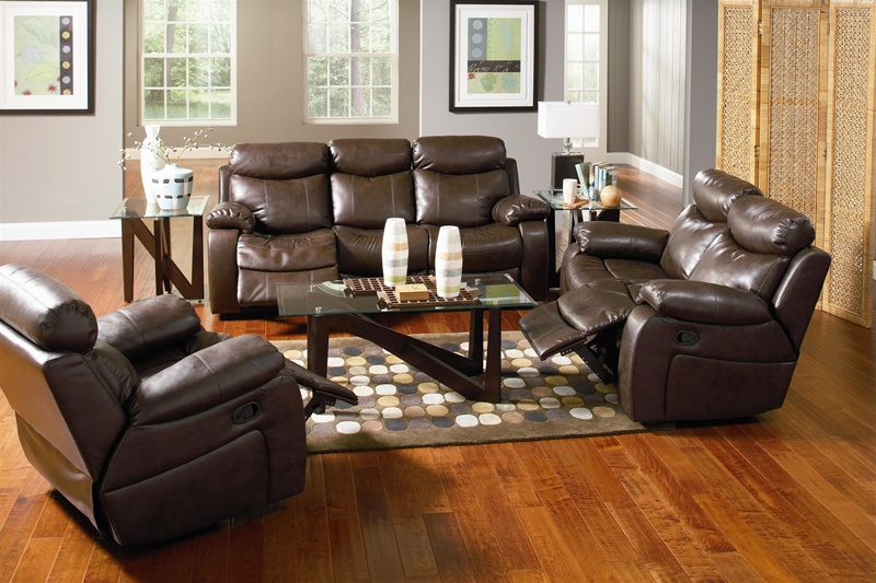 & Denisa Rich Brown Leather Motion Sofa by Coaster - 600561 islam-shia.org