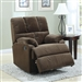 Chocolate Velvet Rocker Recliner by Coaster - 601021