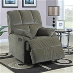Sage Velvet Rocker Recliner by Coaster - 601022