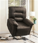 Power Lift Recliner in Chocolate Velvet Upholstery by Coaster - 601026