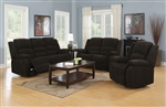 Gordon 2 Piece Reclining Sofa Set in Dark Brown Chenille Upholstery by Coaster - 601461-S