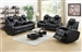 Element 2 Piece Power Recline Sofa Set in Black Leather Upholstery by Coaster - 601741P-S