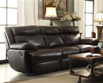 Macpherson Reclining Sofa in Cocoa Bean Leather by Coaster - 601811