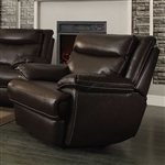 Macpherson Power Recliner in Cocoa Bean Leather by Coaster - 601813P
