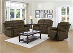 Rodman 2 Piece Reclining Sofa Set in Chocolate Velvet Upholstery by Coaster - 601881-S