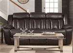 Bevington Reclining Sofa in Chocolate Leatherette Upholstery by Coaster - 602041