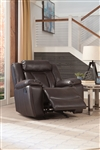 Bevington Recliner in Chocolate Leatherette Upholstery by Coaster - 602043