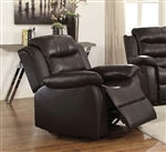 Rodman Recliner in Dark Brown Leather Upholstery by Coaster - 602223