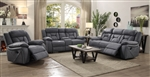 Houston 2 Piece Reclining Sofa Set in Stone Microfiber Upholstery by Coaster - 602261-S
