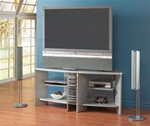 Silver Finish CD Rack TV Stand by Coaster - 700032