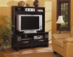 Plasma TV Entertainment Center in a Rich Cappuccino Finish by Coaster - 700092