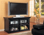 Distressed Black Finish Sliding Doors TV Console by Coaster - 700201