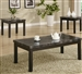 Marble Like Top 3 Piece Occasional Table Set in Black Finish by Coaster - 700385