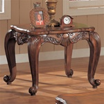 Shell and Leaf End Table by Coaster - 700467