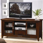 59 Inch TV Stand in Walnut Finish by Coaster - 700619