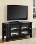 TV Stand in Black Finish by Coaster - 700634