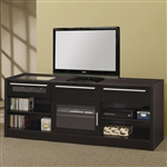 Connect-It 59 Inch TV Console in Black Finish by Coaster - 700673