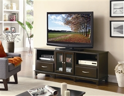 62 Inch TV Stand in Cappuccino Finish by Coaster - 700710