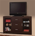 60 Inch TV Console in Cappuccino Finish by Coaster - 700881