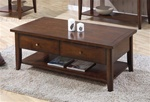 Occasional Coffee Table in Walnut Finish by Coaster - 700958