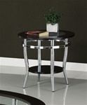 Glass Top End Table by Coaster - 701227