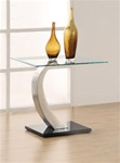Glass Top End Table by Coaster - 701237
