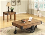 Distressed Country Wagon 2 Piece Occasional Table Set by Coaster - 701458