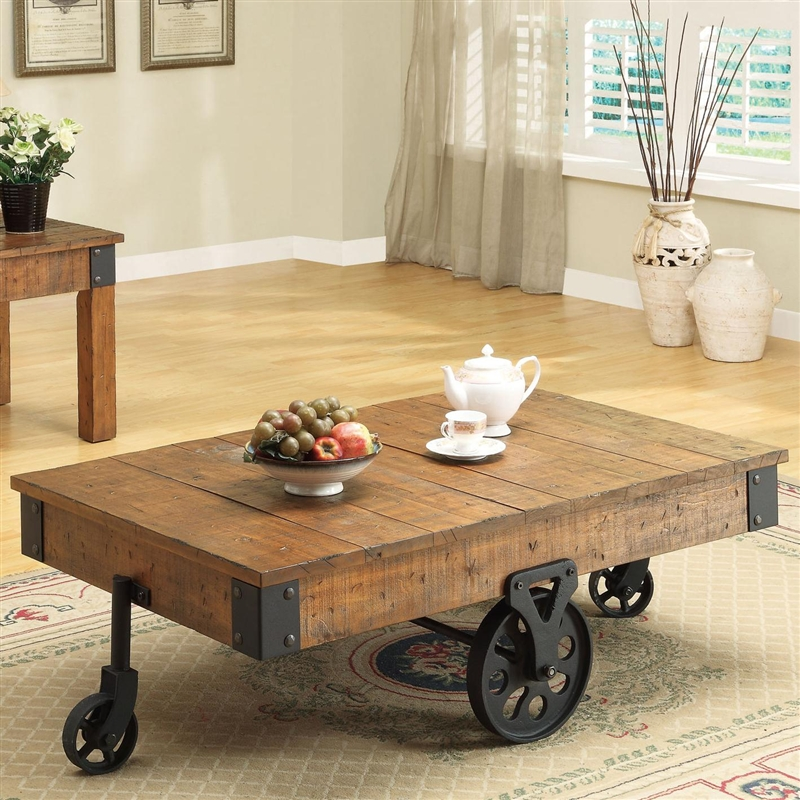 Distressed Coffee Table Sets: Distressed Country Wagon 2 Piece Occasional Table Set By