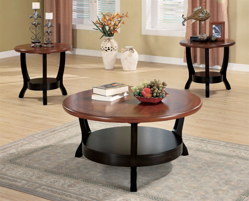 3 piece two tone occasional table setcoaster - 701504