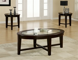 3 Piece Occasional Table Set in Dark Cappuccino Finish by Coaster - 701511
