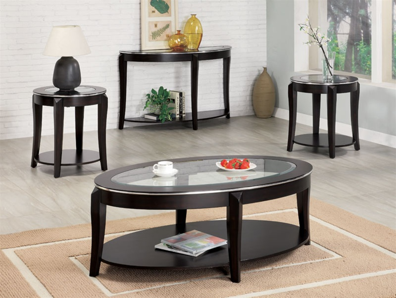 Living Room 3 Piece Table Sets piece occasional table set in cappuccino finishcoaster - 701515