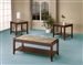 Wood and Marble Laminate 3 Piece Occasional Table Set by Coaster - 701563